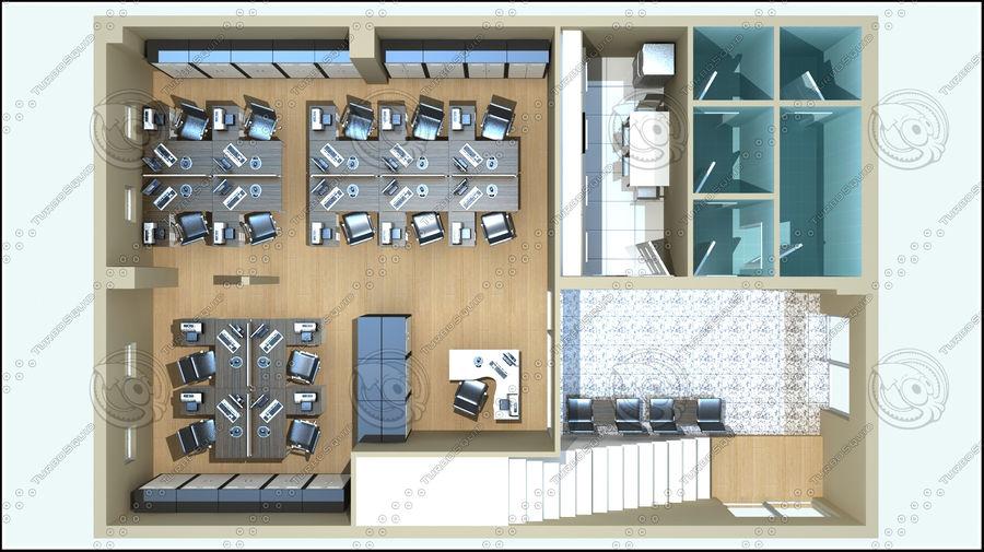 Escena del espacio de oficina royalty-free modelo 3d - Preview no. 2