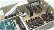 Scène d'espace de bureau 3d model