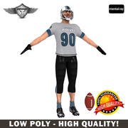 Football player Real Time 3d model