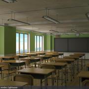 salle de cours 3d model