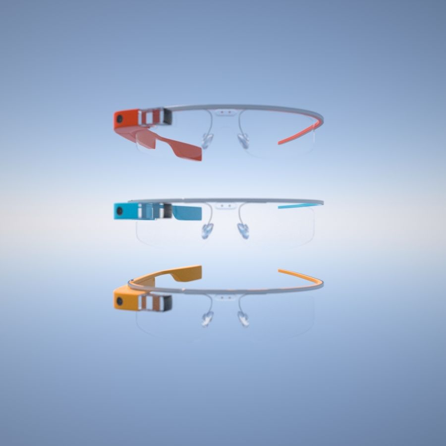 Google Glass royalty-free 3d model - Preview no. 7