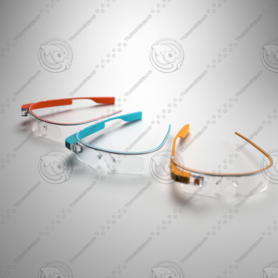 Google Glass royalty-free 3d model - Preview no. 5