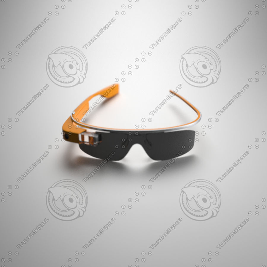 Google Glass royalty-free 3d model - Preview no. 2