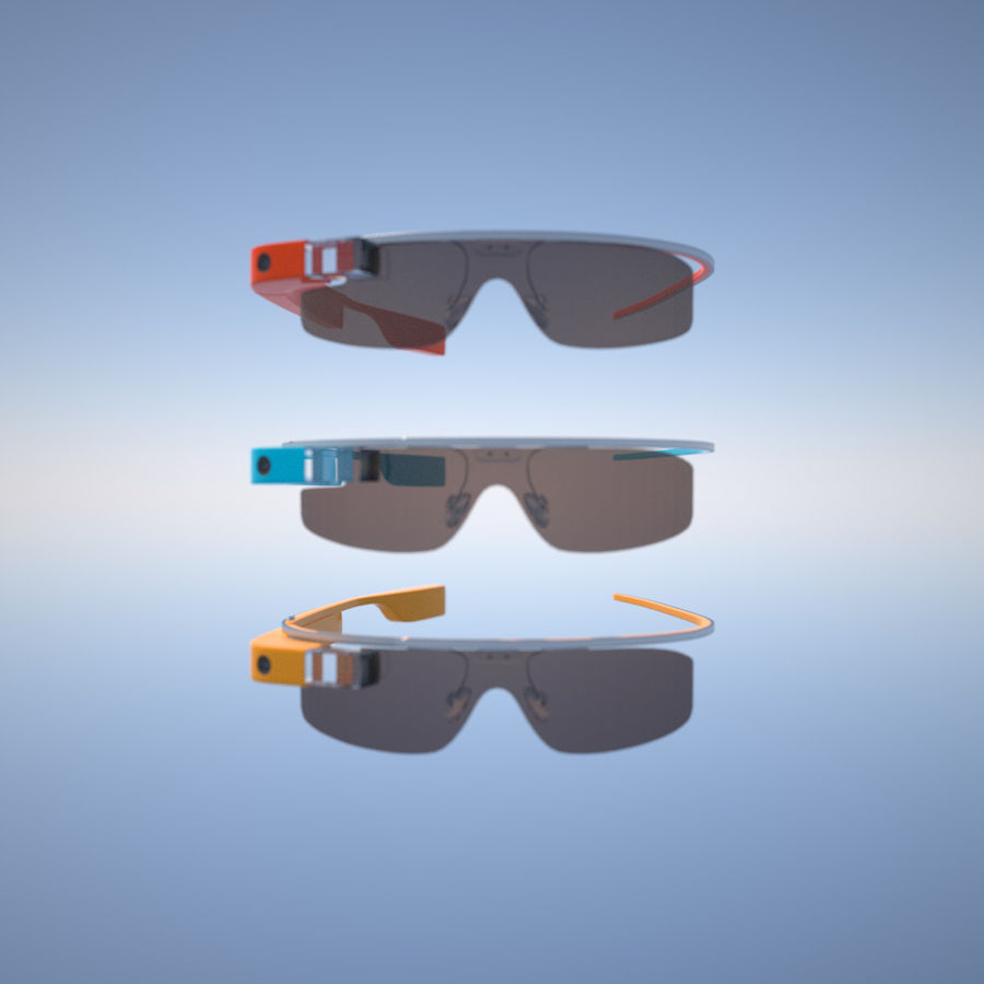 Google Glass royalty-free 3d model - Preview no. 8