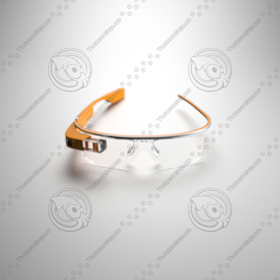 Google Glass royalty-free 3d model - Preview no. 4