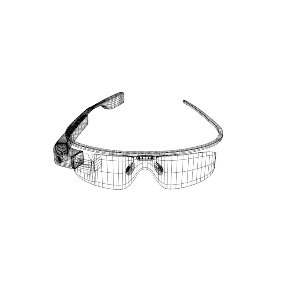 Google Glass royalty-free 3d model - Preview no. 9