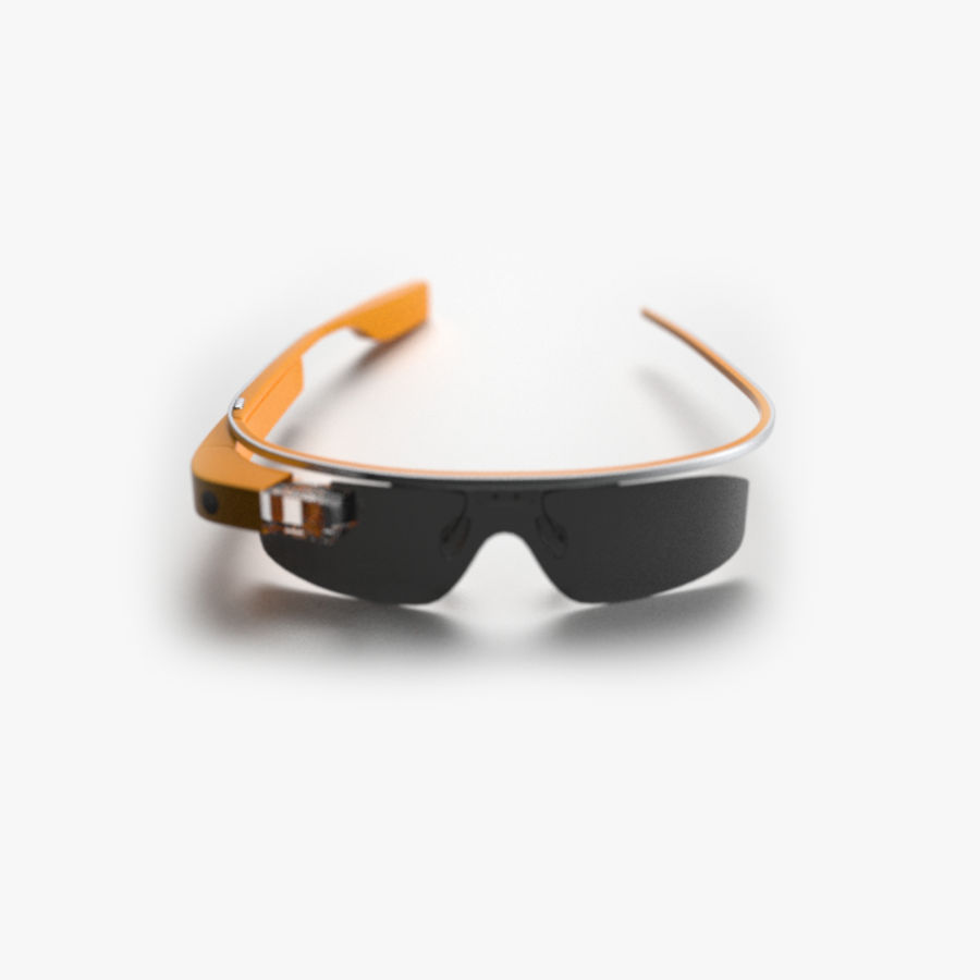 Google Glass royalty-free 3d model - Preview no. 1