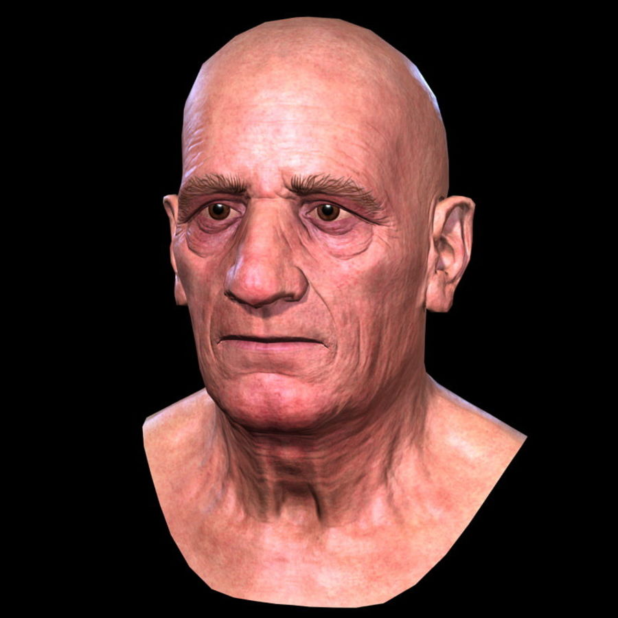 Old Man - Head royalty-free 3d model - Preview no. 12