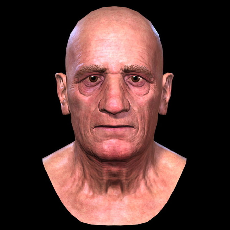Old Man - Head royalty-free 3d model - Preview no. 11
