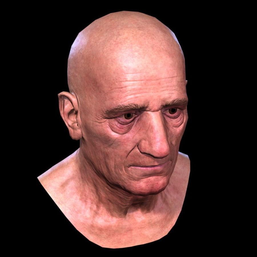 Old Man - Head royalty-free 3d model - Preview no. 17