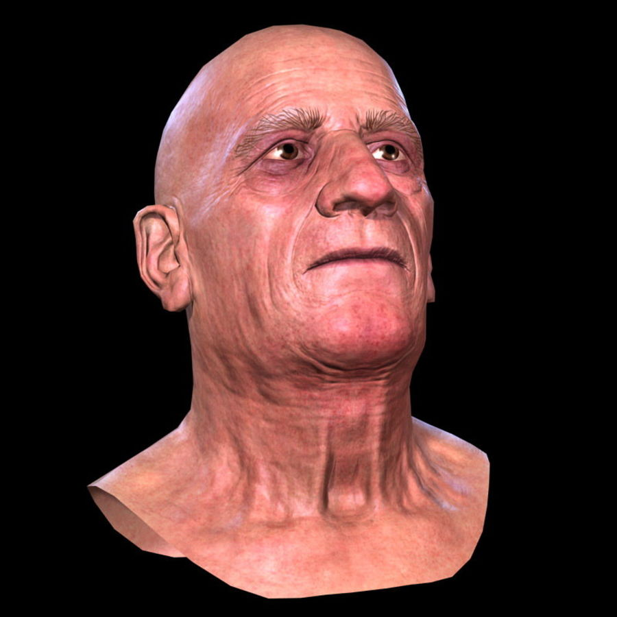 Old Man - Head royalty-free 3d model - Preview no. 16