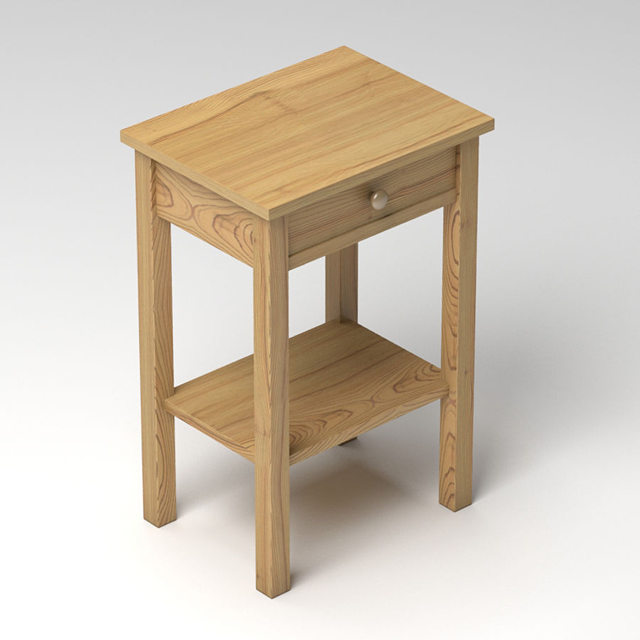 Drawer Bedside royalty-free 3d model - Preview no. 2