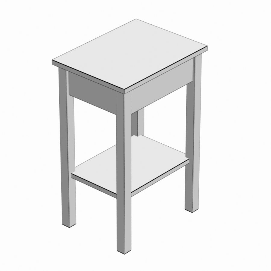 Drawer Bedside royalty-free 3d model - Preview no. 9