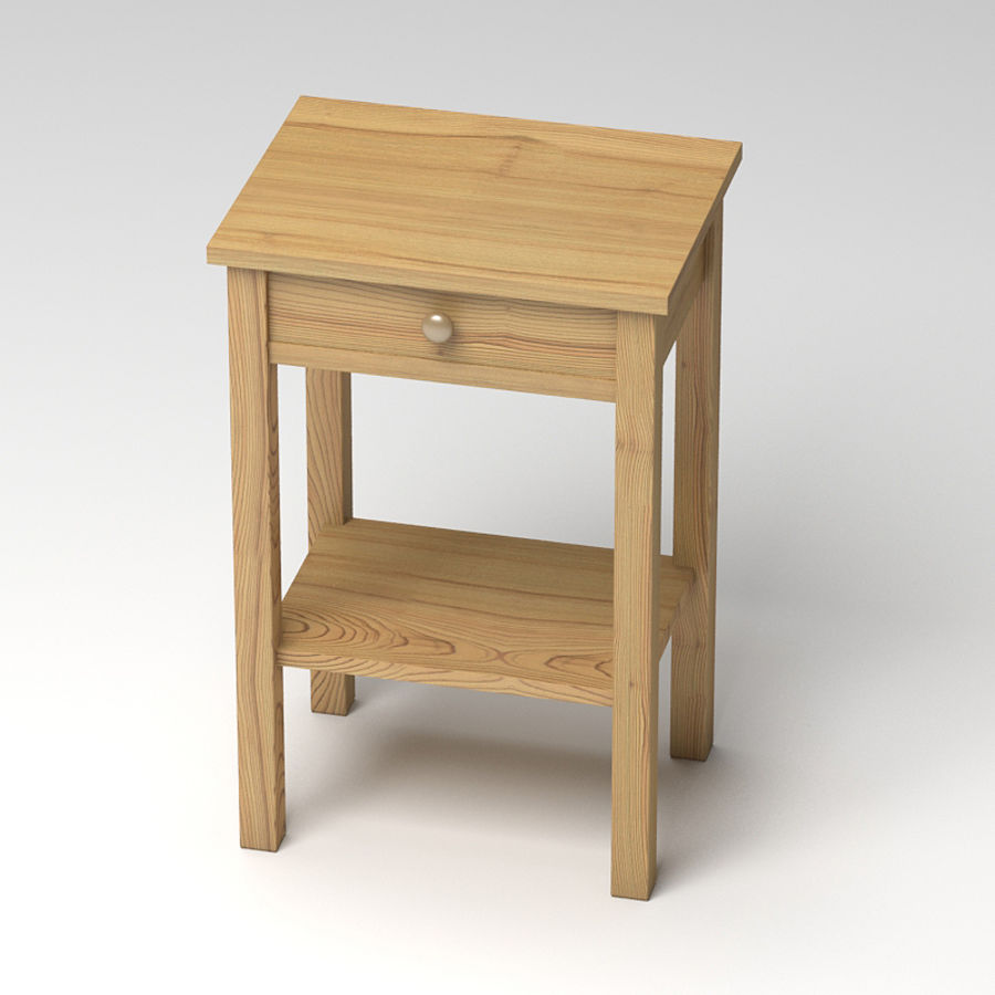 Drawer Bedside royalty-free 3d model - Preview no. 3