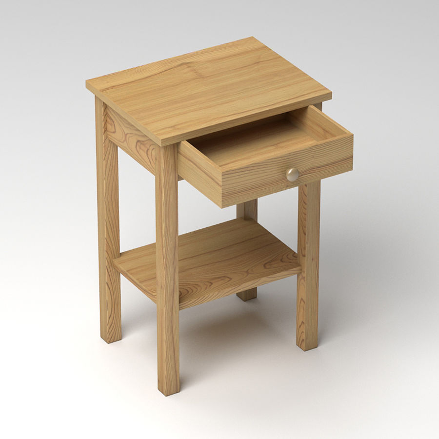Drawer Bedside royalty-free 3d model - Preview no. 7