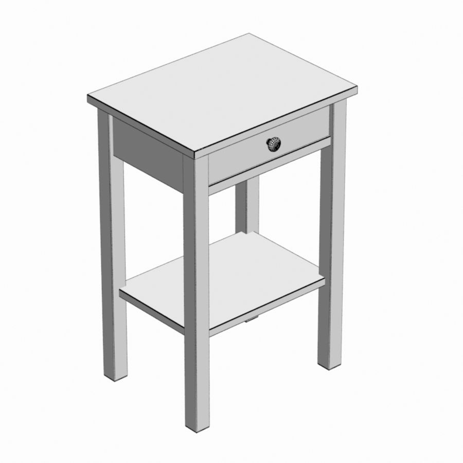 Drawer Bedside royalty-free 3d model - Preview no. 8