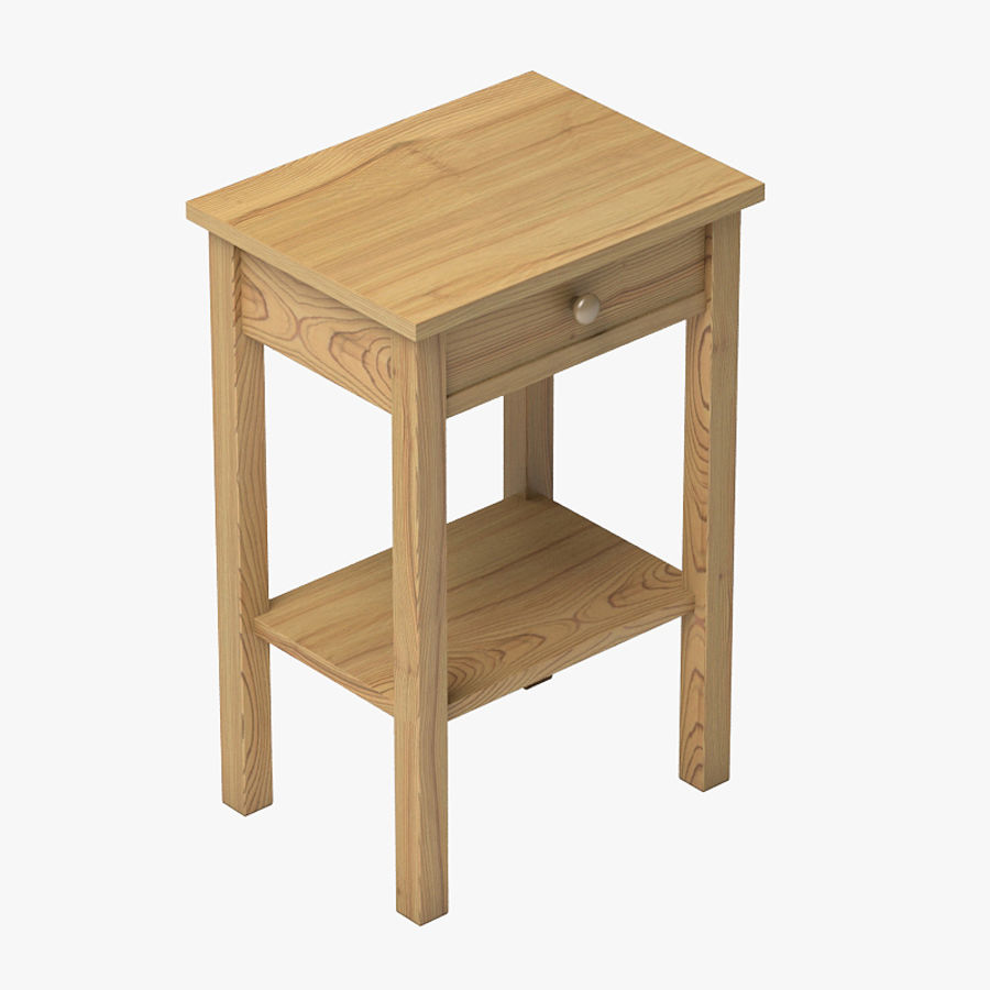 Drawer Bedside royalty-free 3d model - Preview no. 1