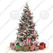 선물 크리스마스 트리 3d model