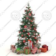 Julgran med gåvor 3d model