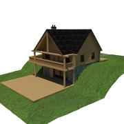 Casa de madeira 3d model