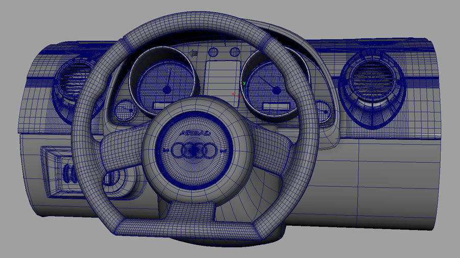 Car - Vehicle Dashboard royalty-free 3d model - Preview no. 9