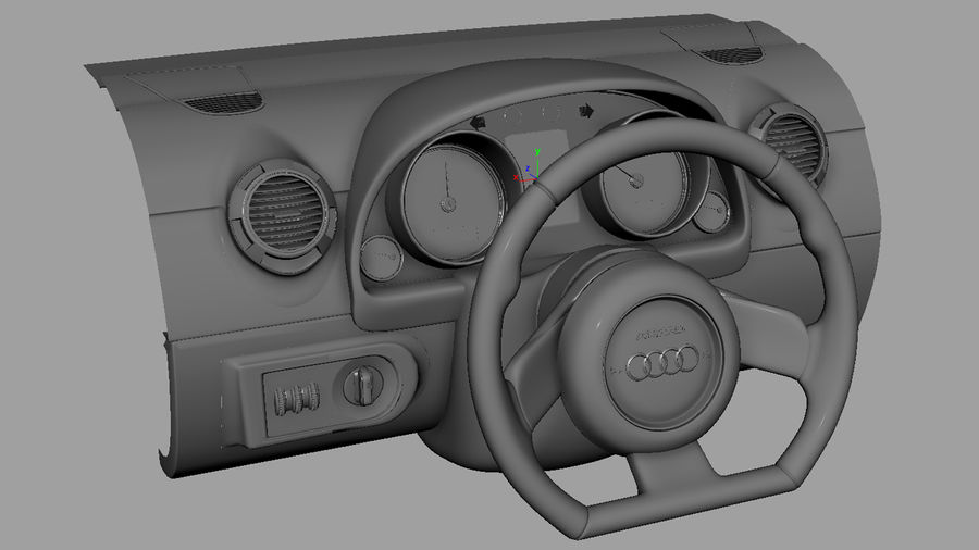 Car - Vehicle Dashboard royalty-free 3d model - Preview no. 7