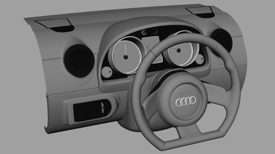 Car - Vehicle Dashboard royalty-free 3d model - Preview no. 6