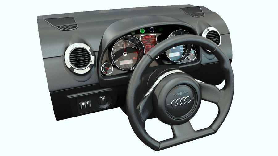 Car - Vehicle Dashboard royalty-free 3d model - Preview no. 2