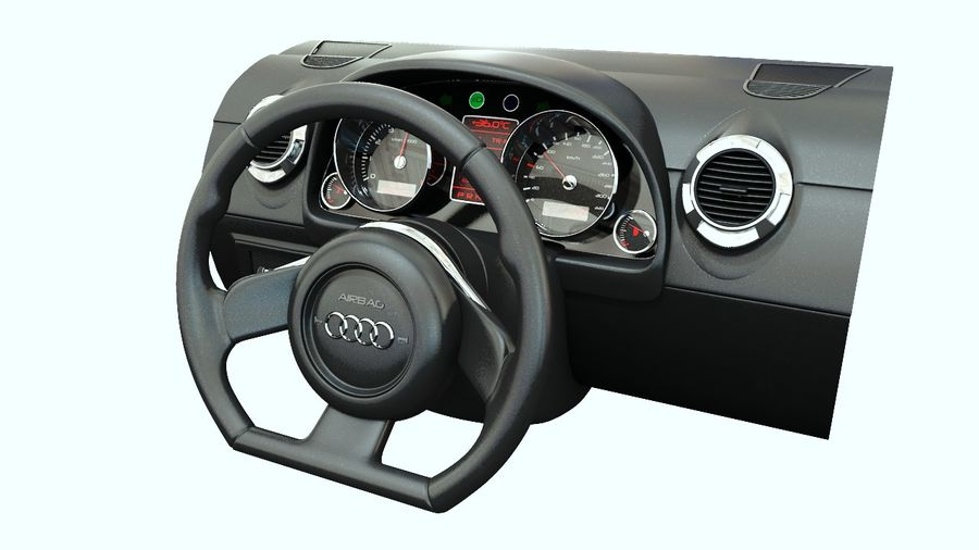 Car - Vehicle Dashboard royalty-free 3d model - Preview no. 4