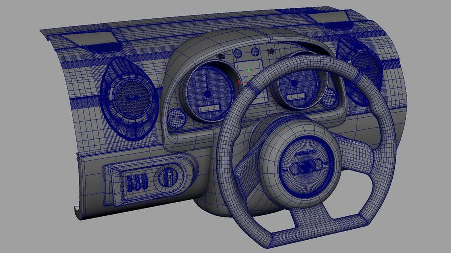 Car - Vehicle Dashboard royalty-free 3d model - Preview no. 8