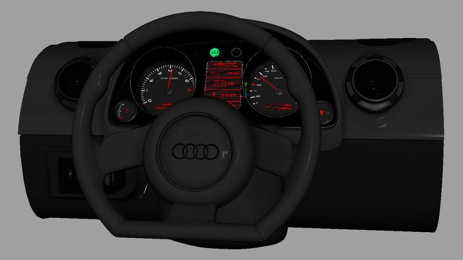 Car - Vehicle Dashboard royalty-free 3d model - Preview no. 10