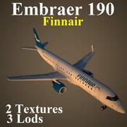 E190鳍 3d model