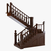 English Staircase 3d model