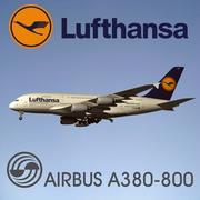 Airbus A380-800 Lufthansa 3d model