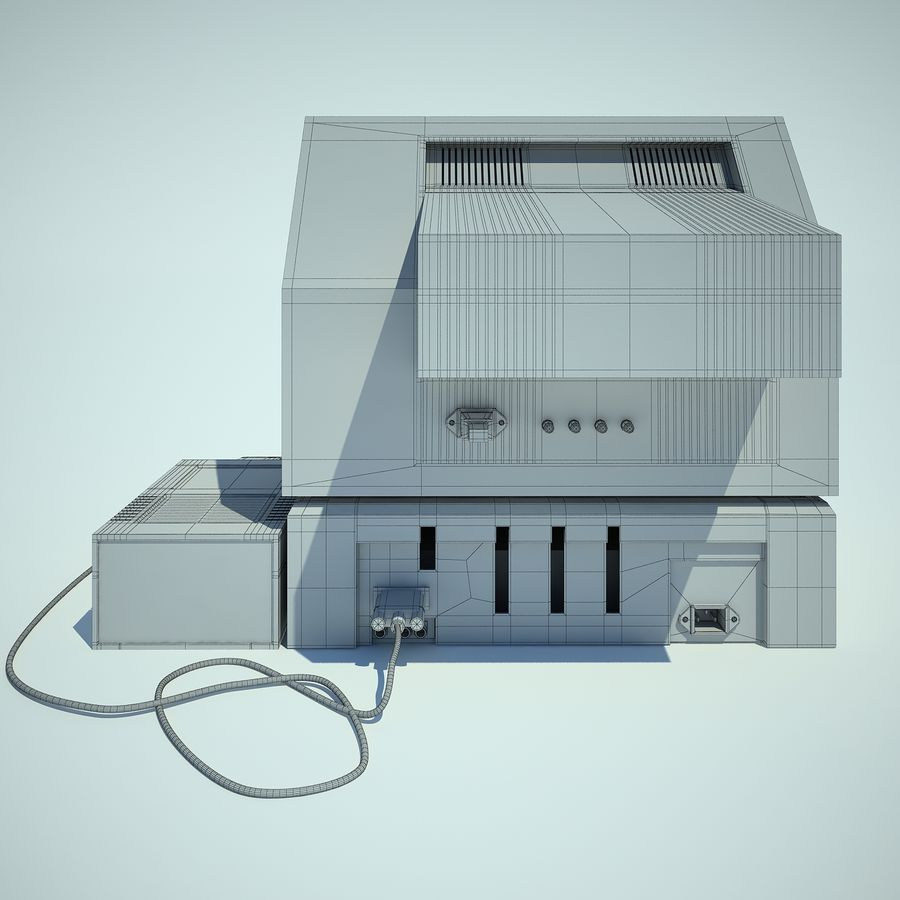 Apple 2 Computer royalty-free 3d model - Preview no. 16