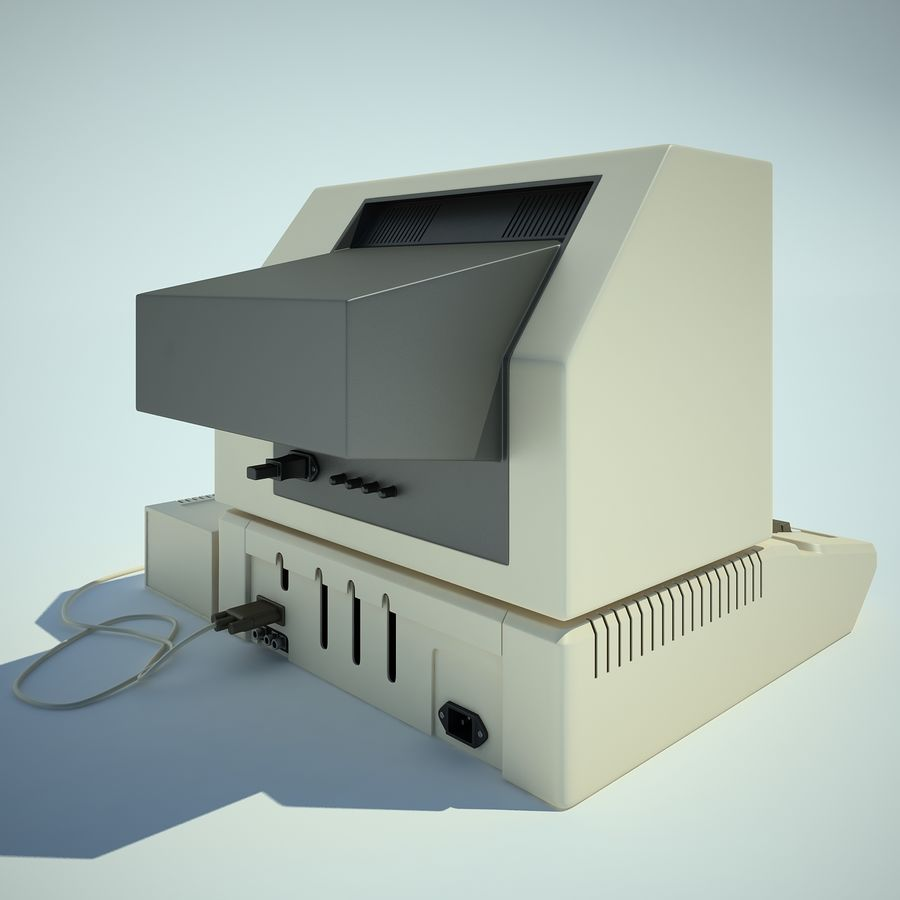 Apple 2 Computer royalty-free 3d model - Preview no. 9