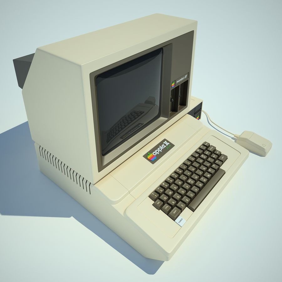Apple 2 Computer royalty-free 3d model - Preview no. 13