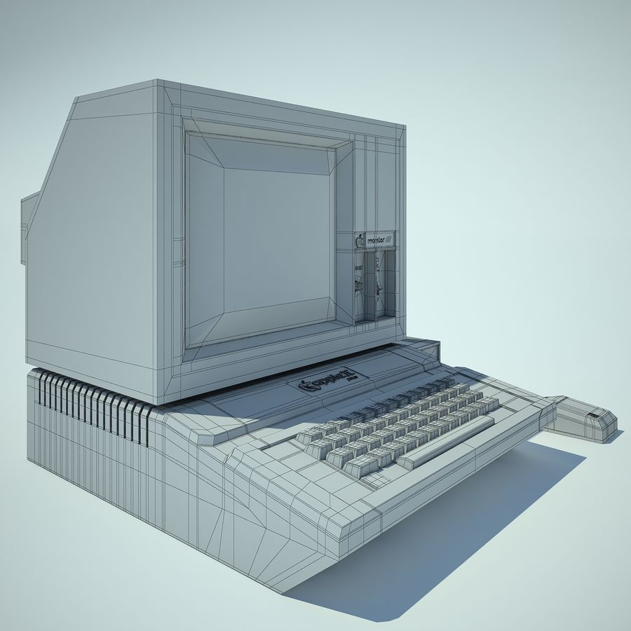 Apple 2 Computer royalty-free 3d model - Preview no. 8