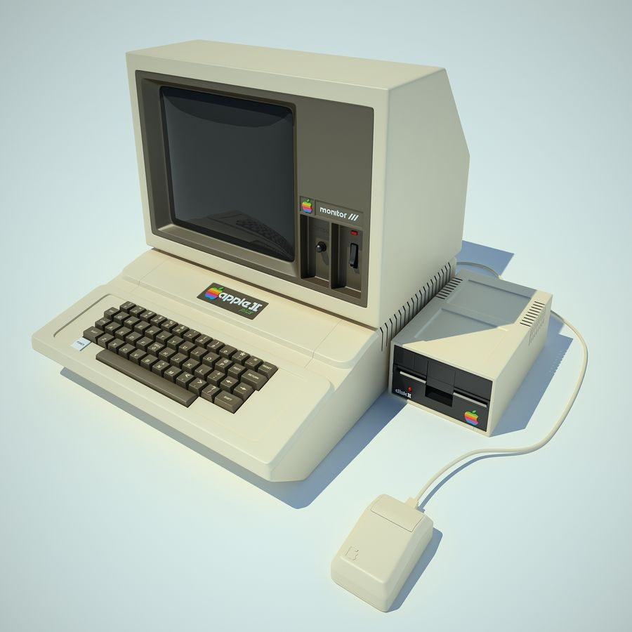 Apple 2 Computer royalty-free 3d model - Preview no. 11