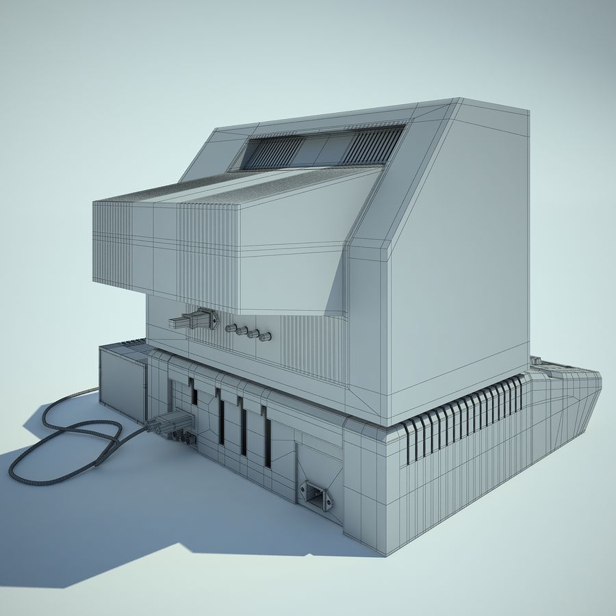 Apple 2 Computer royalty-free 3d model - Preview no. 10