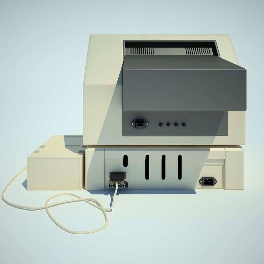 Apple 2 Computer royalty-free 3d model - Preview no. 15