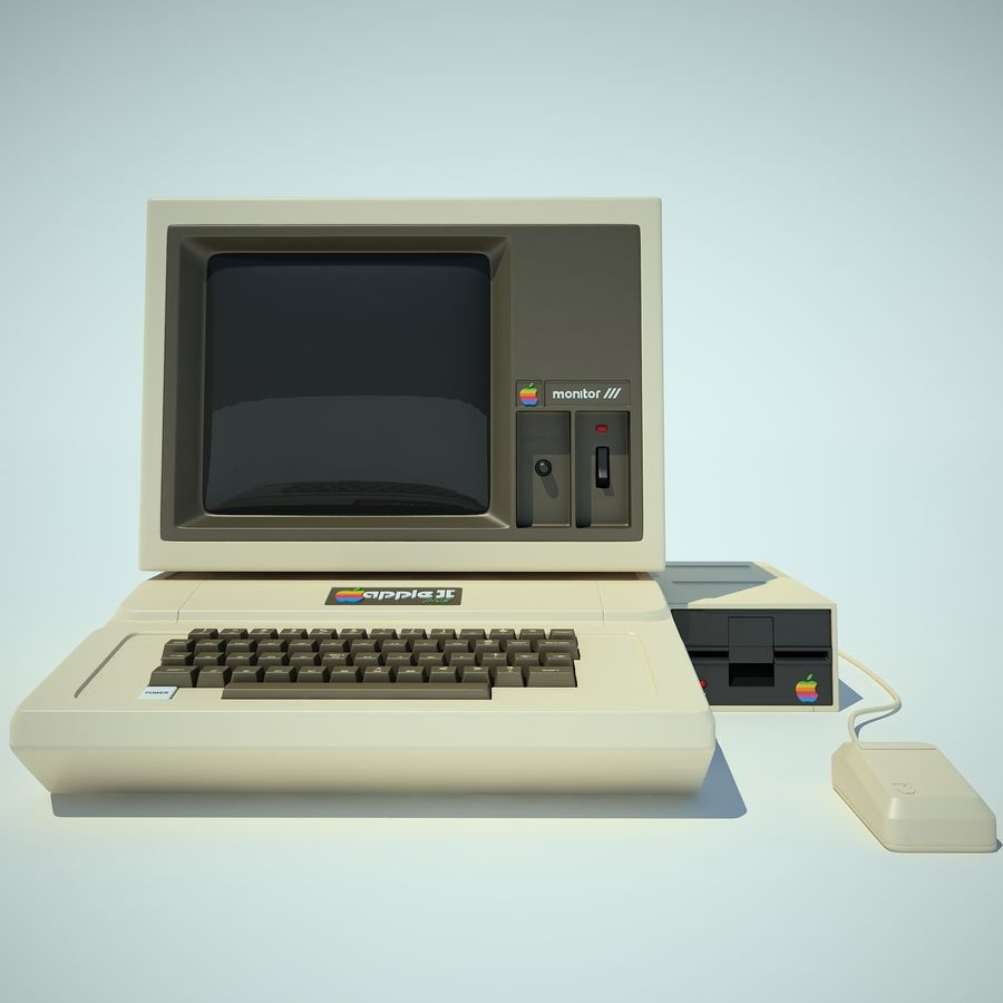 Apple 2 Computer royalty-free 3d model - Preview no. 5