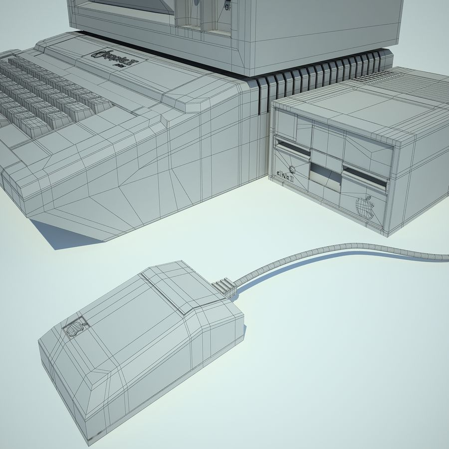 Apple 2 Computer royalty-free 3d model - Preview no. 19