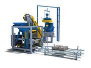 공장 생산 라인 3d model