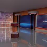 电视工作室3 3d model