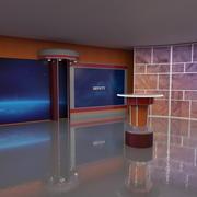 Tv Studio 3 3d model