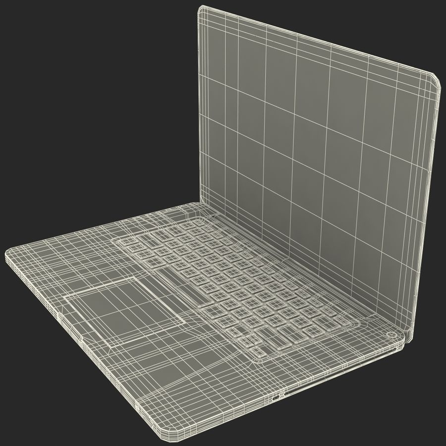 Apple MacBookPro 15 royalty-free 3d model - Preview no. 43