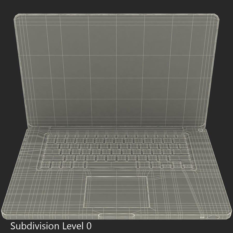 Apple MacBookPro 15 royalty-free 3d model - Preview no. 3