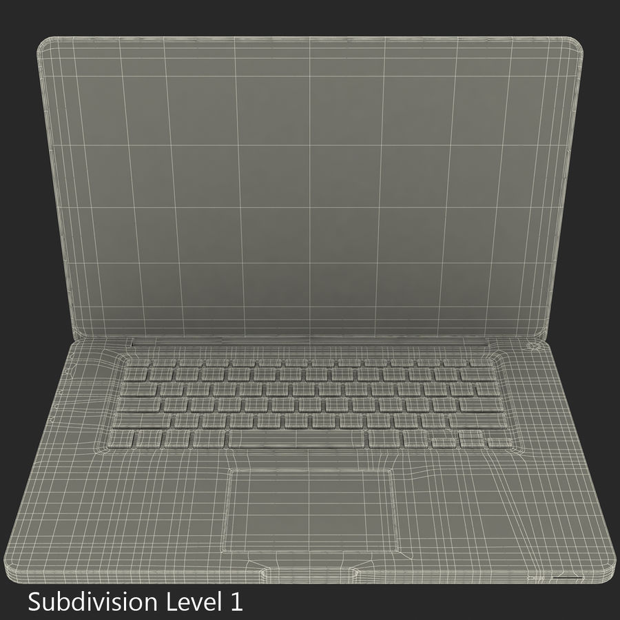 Apple MacBookPro 15 royalty-free 3d model - Preview no. 2