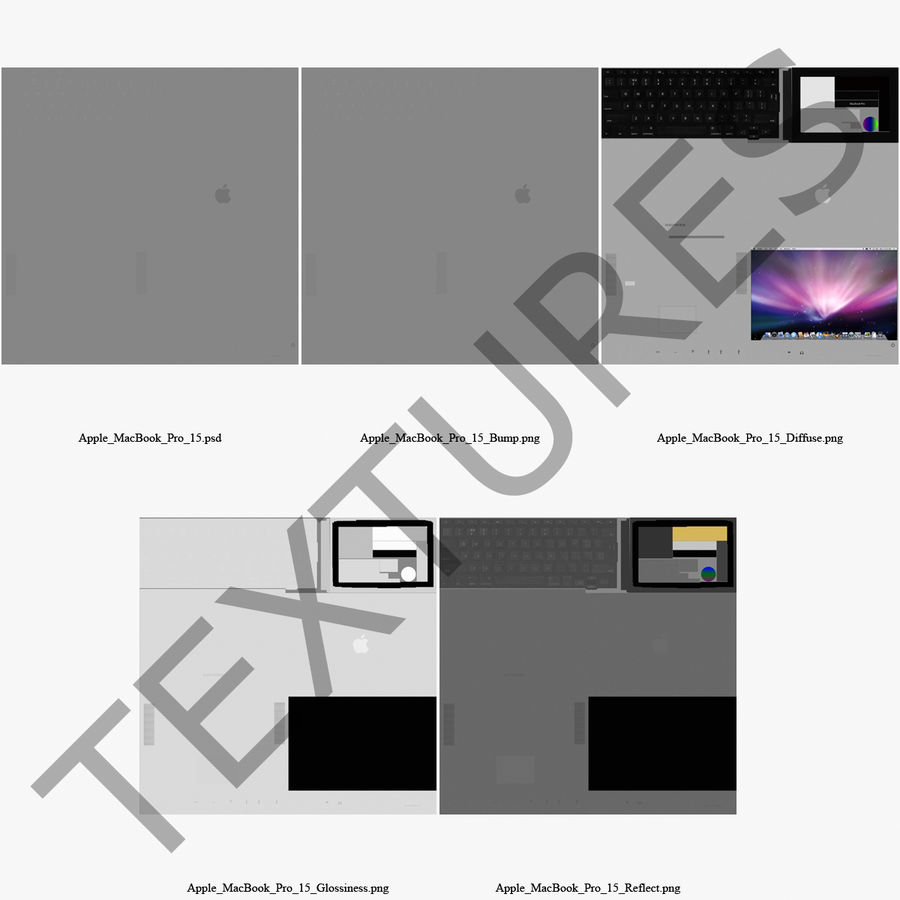 Apple MacBookPro 15 royalty-free 3d model - Preview no. 5